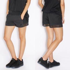 Nike Heathered Jersey and Mesh Training Shorts